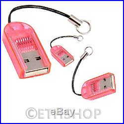 5 Pcs Micro SD SDHC Memory Card Data Reader Writter Support Upto 32GB light Pink