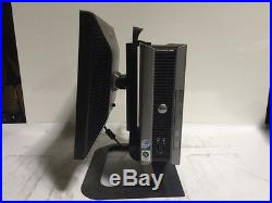 Dell Optiplex 760 Core 2 Duo E8400 3ghz 2GB 160GB USFF with 17 LCD and AC