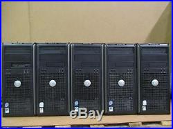Lot 5 Dell Optiplex 755 Tower Core 2 Duo 2.8GHz/ 4GB DDR2/ 160GB HDD PC Computer