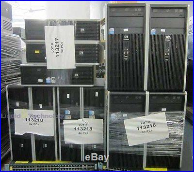 Lot of 11 HP dc5700 & dc5800 Microtower SFF E5300 2.6Ghz 2GB PC Computers