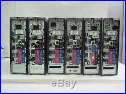 Lot of 6 assorted SFF Dell Optiplex 755 different specifactions Free Shipping